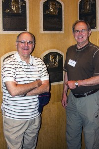 David Pincus and Howard Brill with Brooks Robinson's Hall-of-Fame plaque