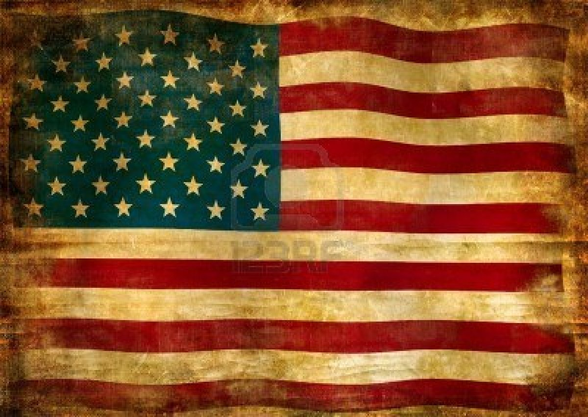 Vintage American Flag Background